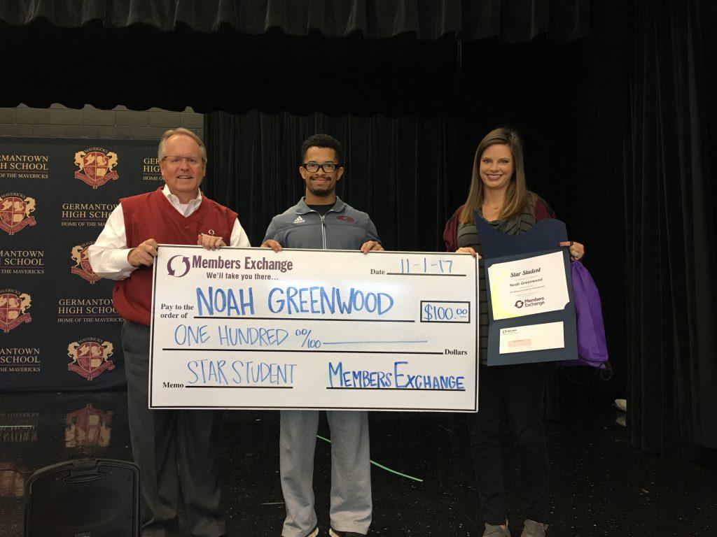 Noah Greenwood is the winner of MECU's Star Student Award.