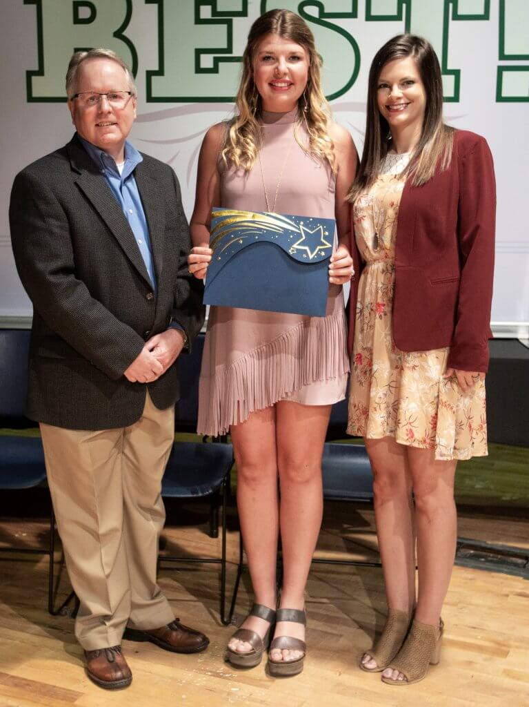 Laine Marler is the winner of the Members Exchange Community Service scholarship.