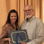 MECU receives Advocacy Award. Pictured: Angela Mitchell & Charles Elliott.