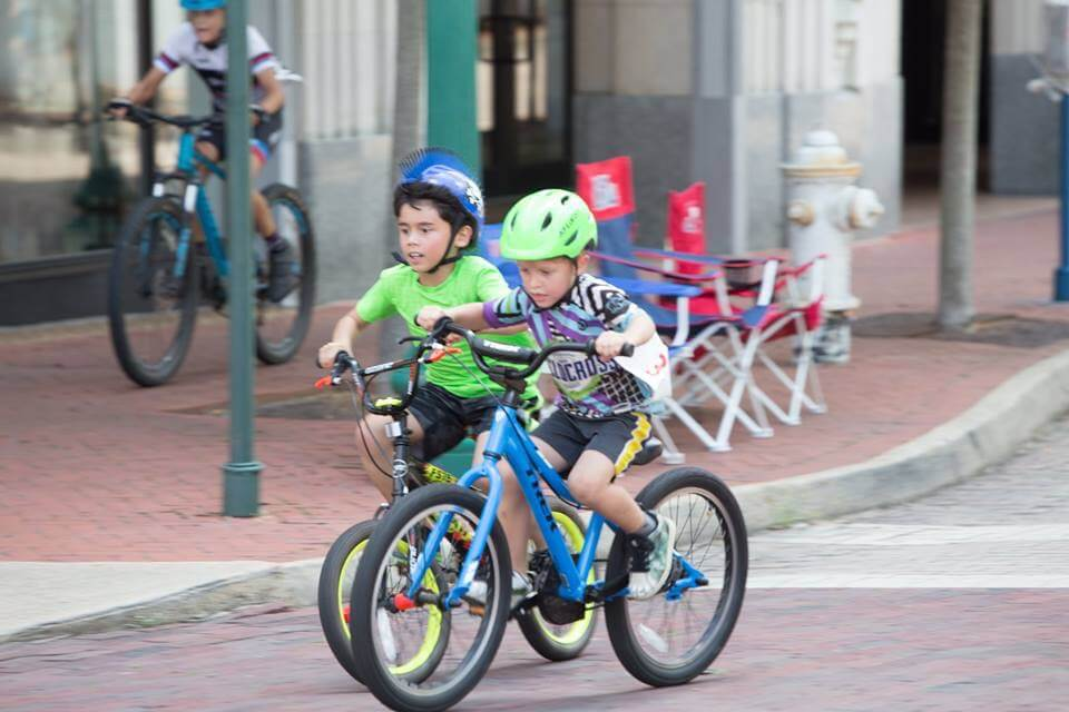 Bike Riders at the MECU Kids Fun Race