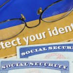 Glasses and social security card protect your identity